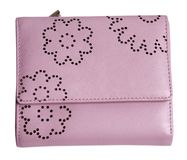 Pink purse royalty free stock image