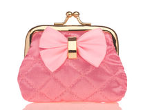 Pink purse Stock Photography