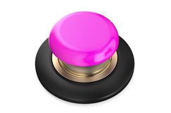Pink pushbutton. Pink push-button isolated on white background Stock Image