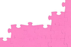 Pink puzzle corner Stock Photography