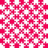 Pink Puzzle Pieces - JigSaw Vector - Field Chess. Pink Puzzle Pieces in a White Square - JigSaw - Vector Illustration. Vector Background. Field for Chess Royalty Free Stock Photo