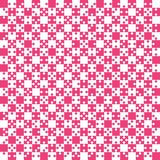 Pink Puzzle Pieces JigSaw - Vector - Field Chess. Pink Puzzle Pieces in a White Square - JigSaw - Vector Illustration. Vector Background. Field for Chess Royalty Free Stock Photo