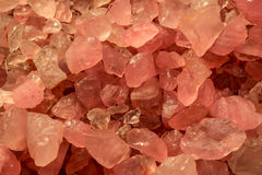 Pink quartz minerals, a beautiful abstract background Royalty Free Stock Images