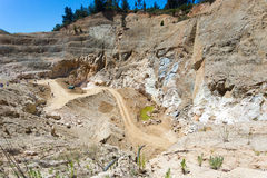 Pink Quartz mining site. Small Pink Quartz mining site in Chile, South America Stock Images