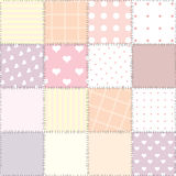 Pink quilting design Stock Image