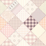 Pink quilting design. Seamless background pattern. Will tile endlessly Stock Image