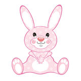 Pink rabbit Royalty Free Stock Image