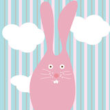 Pink rabbit Stock Photography