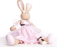 Pink  rabbit Stock Photo