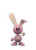 Pink rabbit Stock Image