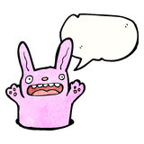 Pink rabbit cartoon Royalty Free Stock Image