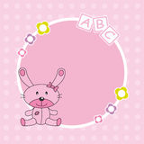 Pink rabbit framework Stock Images