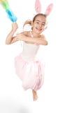 Pink rabbit-girl Royalty Free Stock Image