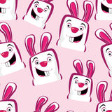 Pink rabbits Stock Images