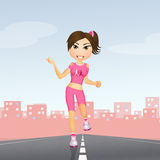 The pink race. Illustration of the pink race Royalty Free Stock Photos