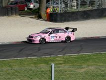 Pink Racer Royalty Free Stock Photo