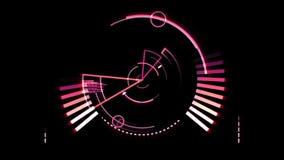 Pink radar screen stock video
