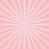 Pink radial background with Japanese traditional design. golden and silver leaf. Stock Photography
