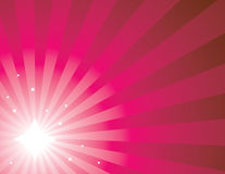 Pink radiating ray background 1. Pink radiating ray background with stars Royalty Free Stock Photography
