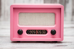 Pink Radio with Retro Look Royalty Free Stock Images