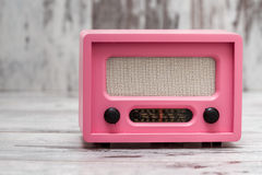 Pink Radio with Retro Look Stock Photography