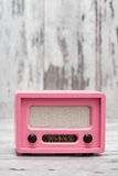 Pink Radio with Retro Look Royalty Free Stock Photos