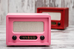 Pink Radio with Retro Look Royalty Free Stock Photo