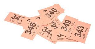 Pink Raffle Tickets Royalty Free Stock Images