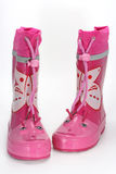Pink rain boots Stock Photography