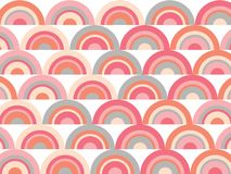 Pink rainbow retro scallop pattern Royalty Free Stock Photos