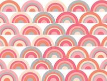 Pink rainbow retro scallop pattern Royalty Free Stock Photos
