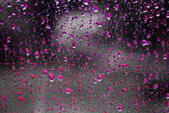 colored raindrops Stock Images
