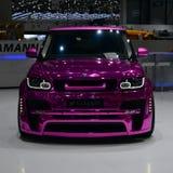 Pink Range Rover Geneva 2013 Royalty Free Stock Image