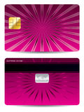 Pink ray credit card design Stock Photography