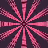 Pink rays background with halftone effect. Vector Royalty Free Stock Photography