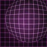 Pink rays light 3D mosaic. Royalty Free Stock Photos