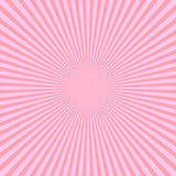 Pink rays of light in radial arrangement. Sunshine beams theme. Abstract background pattern. Vector illustration Stock Images
