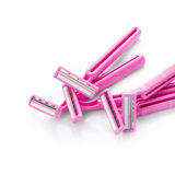 Pink razors Stock Photography