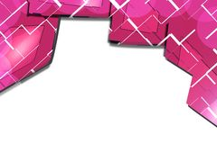 Pink rectangular shape overlap, abstract background Royalty Free Stock Image