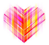 Pink and red abstract heart. Valentine background Royalty Free Stock Image