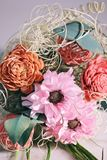 Pink and Red Artificial Flowers Bouquet Royalty Free Stock Photo