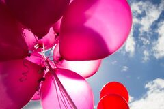 Pink and Red Balloons during Daytime Stock Photo