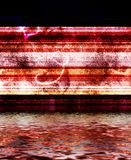 Pink Red Blue Background with water Stock Images