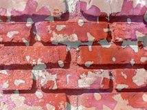 Pink and red brick background texture Royalty Free Stock Photo