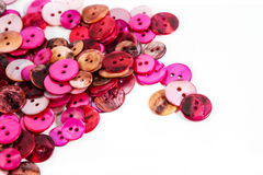 Pink and red buttons Royalty Free Stock Images