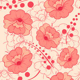 Pink and red color flower seamless pattern background Stock Photography