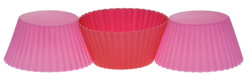 Pink and Red Cupcake Wrappers Royalty Free Stock Image