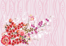 Pink and red flower bouquet Stock Photo