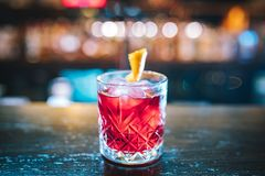 Pink and red Fresh colorful exotic alcoholic cocktail stock photos
