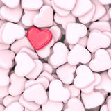 Pink and red hearts background Stock Photography